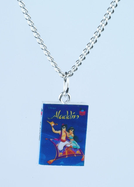 Aladdin Book Necklace