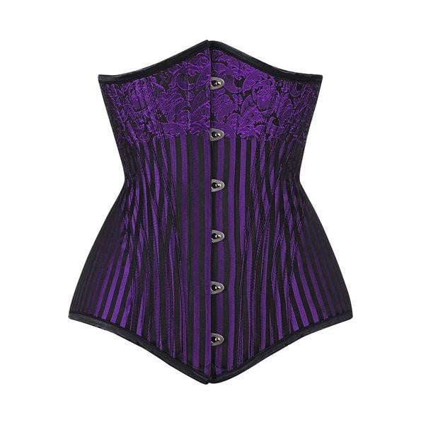 Purple Gothic Waist Training Corset