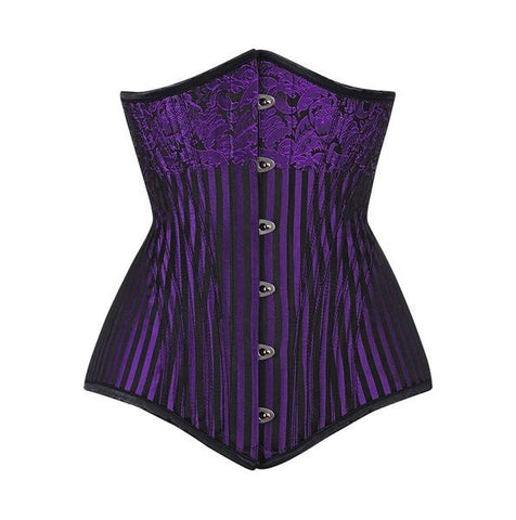 Purple Gothic Waist Training Corset - Dragon Dreads
