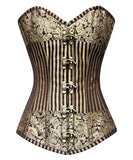 Steampunk Gold Brocade Corset