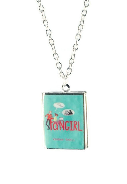 Fangirl Book Locket Necklace