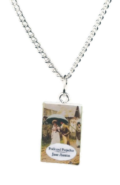 Jane Austen's Pride and Prejudice Book Necklace