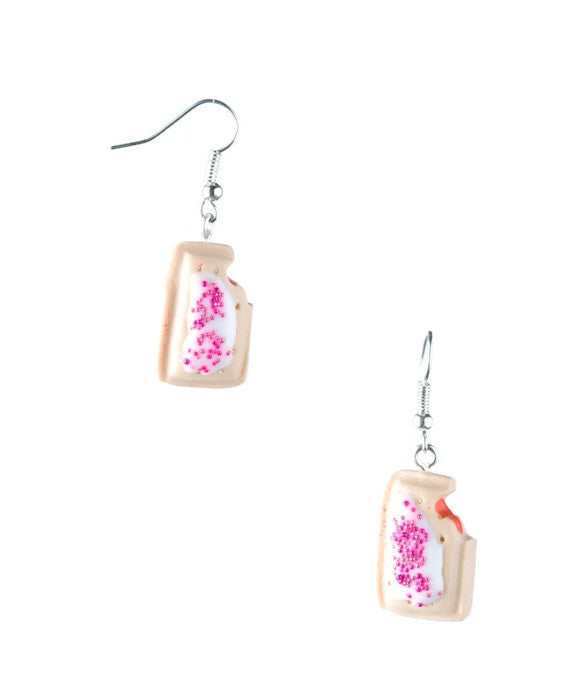 Strawberry Poptart Earrings - Dragon Dreads