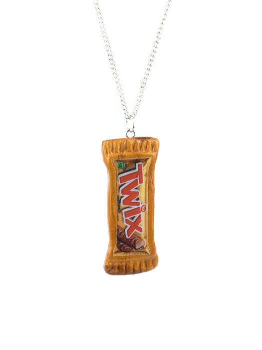 Twix Chocolate Bar Necklace