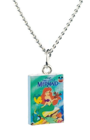 The Little Mermaid Book Necklace - Dragon Dreads