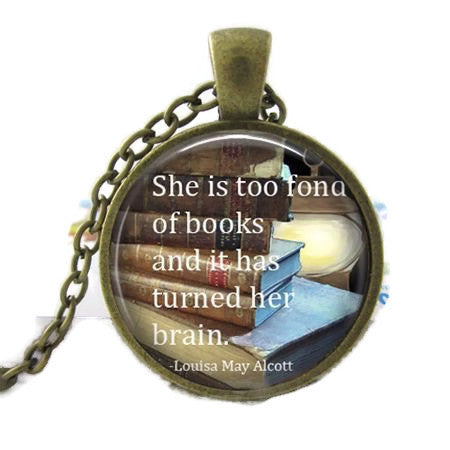 Too Fond Of Books Necklace - Dragon Dreads