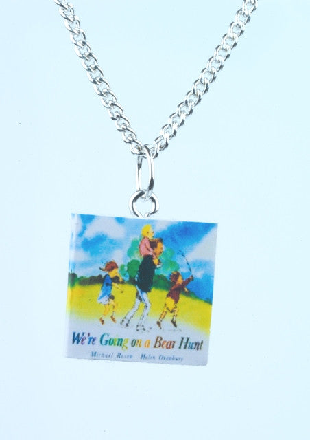 We're Going on a Bear Hunt Book Necklace