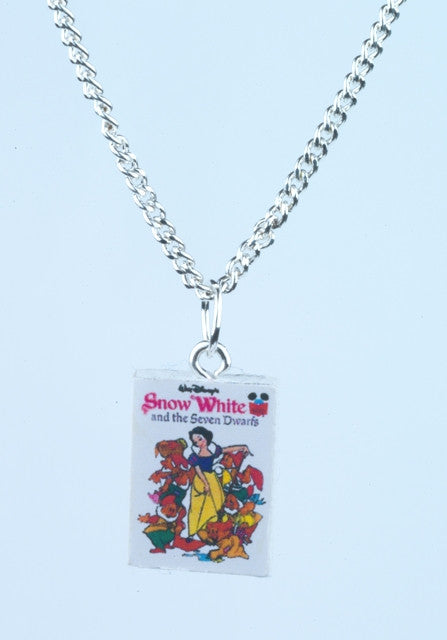 Snow White Book Necklace