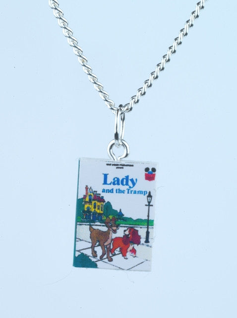 Lady and the Tramp Book Necklace