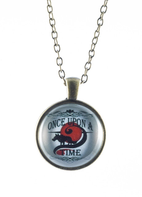 Once Upon A Time Wolf Cameo Necklace