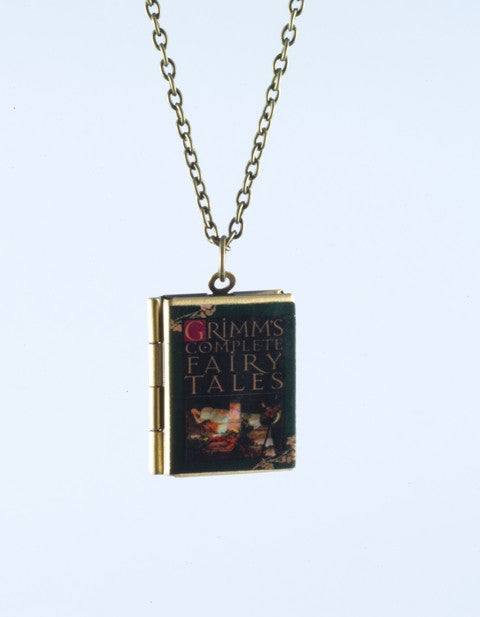 Grimms Fairy Tales Book Locket Necklace