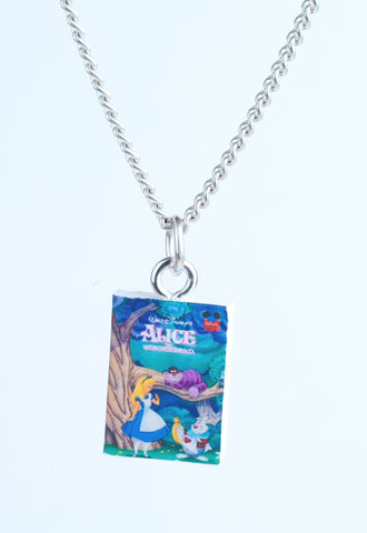 Alice in Wonderland Book Necklace
