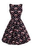 Pug face tea dress- Lady Vintage