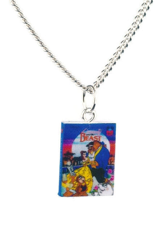 Beauty and the Beast Book Necklace