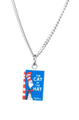 Cat In The Hat Book Necklace