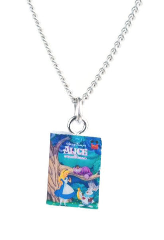 Alice in Wonderland Disney Book Necklace