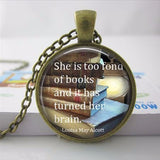 Too Fond Of Books Necklace