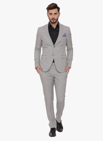 Black Textured Men's Suit (ST0089)