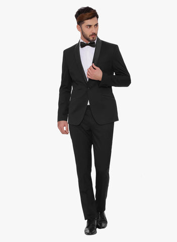Black Shawl collar Men's Tuxedo Suit (ST0081)