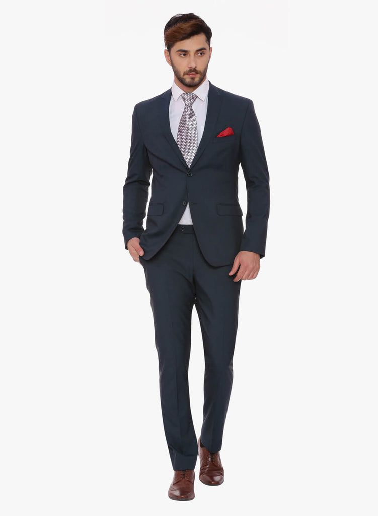 Navy Peak Lapel Men