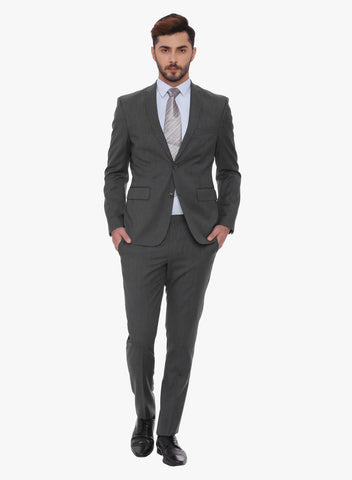 Grey Solid Men's Suit (ST0090)