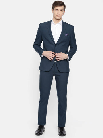 Blue Solid Men's Suit (ST0111)