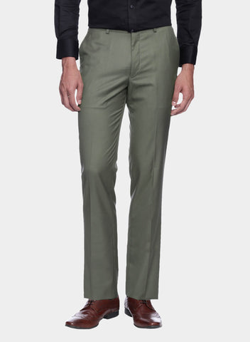 Taupe Solid Men's Trouser (PT0060)