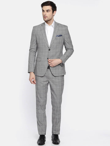 Grey Check Men's Suit (ST0115)