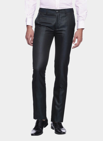Navy Blue Shiny Men's Trouser (PT0067)