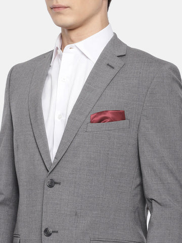 Grey Solid  Men's Suit (ST0108)
