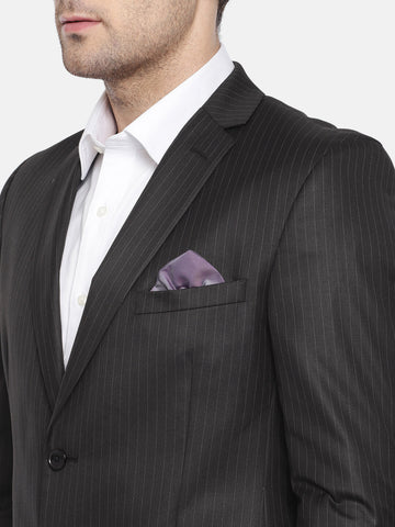 Black Stripes Men's Suit (ST0110)