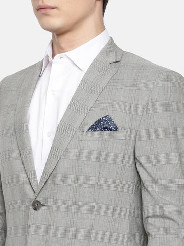 Grey Check Men's Suit (ST0117)