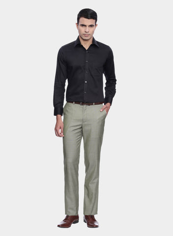 Beige Textured Men's Trouser (PT0071)