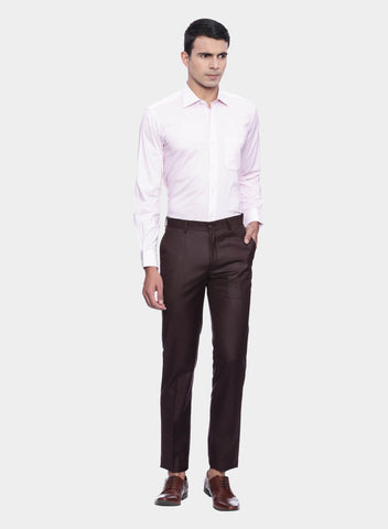 Burgundy Solid Men's Trouser (PT0059)