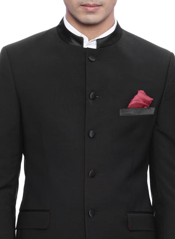 Black Royal Bandhgala Men's Suit (ST0072)