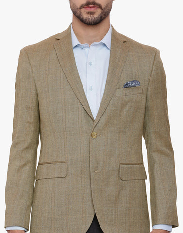Brown Herringbone Men's Jacket  (JT0261)