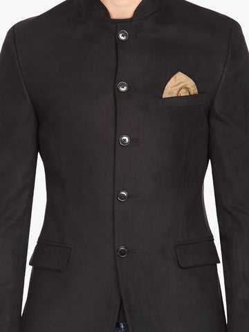 Black Bandhgala Men's Jacket (JT0328)