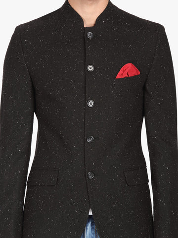 Black Speckled Men's Bandhgala Jacket (JT0334)