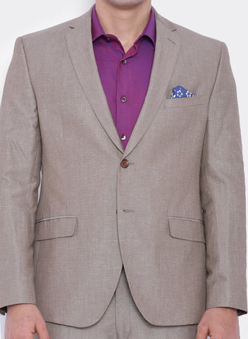 Beige  Linen Men's Jacket (2053)