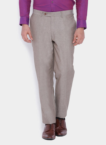 Grey Linen blend Men's Suit (2052)