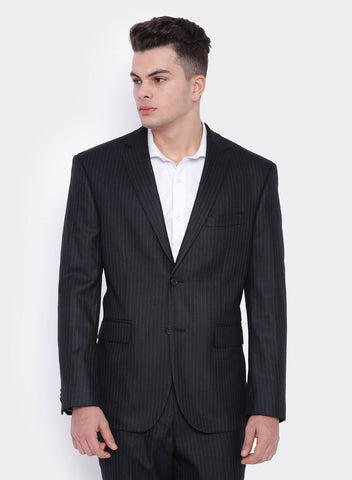 Black & Brown Stripe Men's Jacket (2064)
