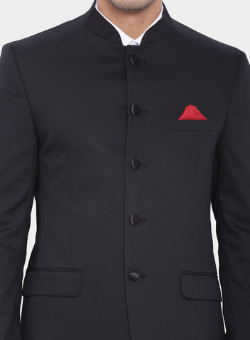 Black Plain Bandhgala Men's Jacket (2007)