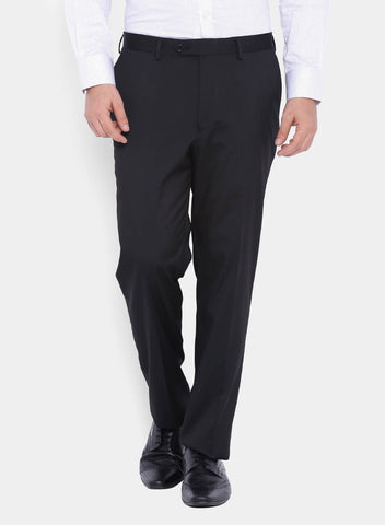 Black  Plain Men's Trouser (2065)