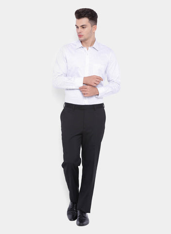 Black PV Plain Men's Trouser (2065)