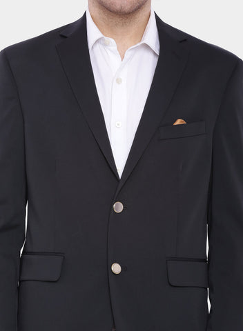 Black  Solid Men's Jacket (JT0213)