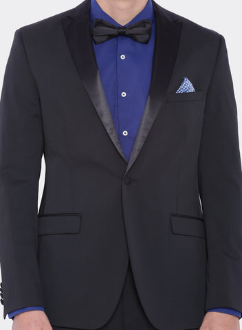 Black Solid Men's Tuxedo Jacket (2001)