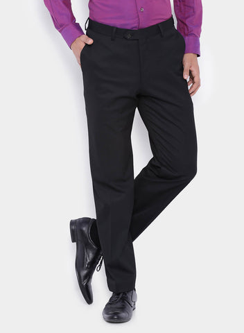 Black Solid Men's Trouser (2001)