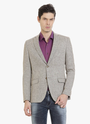 Brown Herringbone Men's Jacket (JT0313)