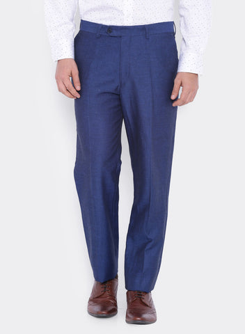 Blue Dobby Linen Men's Trouser (2056)