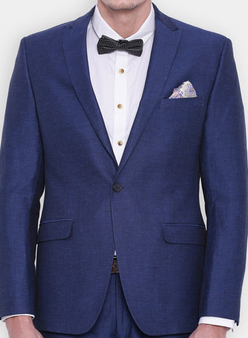 Blue Linen Men's Jacket (2056)